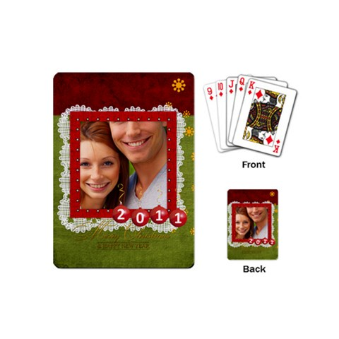 Christmas By Joely   Playing Cards (mini)   T9dsoszppasm   Www Artscow Com Back
