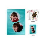 double circle cards - Playing Cards (Mini)