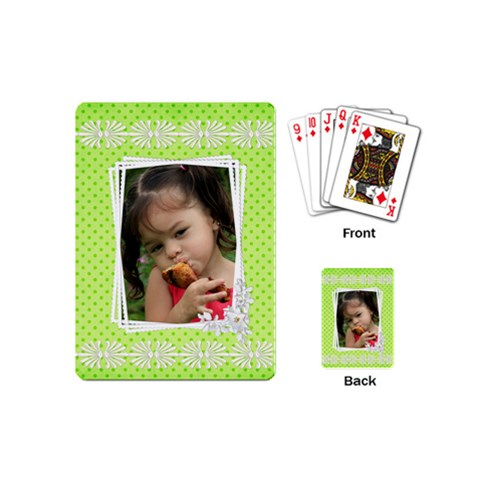 Little Girl Mini Playing Cards By Deborah   Playing Cards (mini)   Dxjeym6hlxmp   Www Artscow Com Back