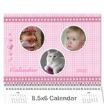 Happy Pink 2013  (any Year) Calindar 8.5x6 - Wall Calendar 8.5 x 6