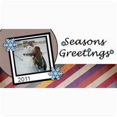 Seasons Greetings By Amanda Bunn   4  X 8  Photo Cards   Lor2mlt4nj7f   Www Artscow Com 8 x4  Photo Card - 4