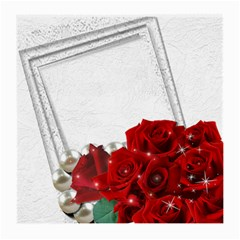 Red Roses Medium Glass Cloth (2 Sided) By Deborah   Medium Glasses Cloth (2 Sides)   Gvsmorbwgnqs   Www Artscow Com Back