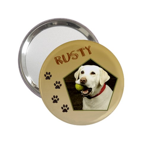 My Dog Handbag Mirror By Deborah   2 25  Handbag Mirror   Equ4gz402ly3   Www Artscow Com Front