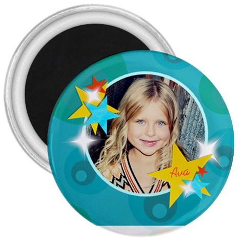Stars Magnet By Lana Laflen   3  Magnet   47apl6f7oc4c   Www Artscow Com Front