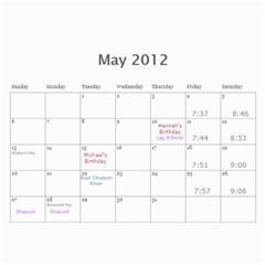 Cal 2012 By Shoshana   Wall Calendar 11  X 8 5  (12 Months)   Rhy1g4nmiy95   Www Artscow Com May 2012