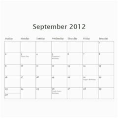 Calendar 2012 By Farron Jm   Wall Calendar 11  X 8 5  (12 Months)   In3cuym3s7h7   Www Artscow Com Sep 2012