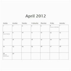 Calendar 2012 By Farron Jm   Wall Calendar 11  X 8 5  (12 Months)   In3cuym3s7h7   Www Artscow Com Apr 2012
