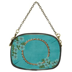 Chain Purse (two Sides): Blue Flowers By Jennyl   Chain Purse (two Sides)   Y011wexkh0c4   Www Artscow Com Front