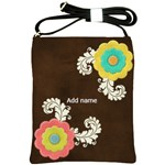 Shoulder Sling Bag: Big Flowers