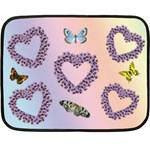 floral heart mini blanket - Mini Fleece Blanket