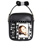 girls sling bag - black