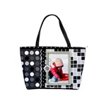 classic shoulder handbag - black