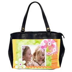 Flower Of Baby By Joely   Oversize Office Handbag (2 Sides)   Y6yfaxbzjim4   Www Artscow Com Front