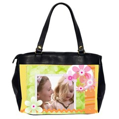 Flower Of Baby By Joely   Oversize Office Handbag (2 Sides)   Y6yfaxbzjim4   Www Artscow Com Back