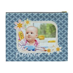 Flower  By Joely   Cosmetic Bag (xl)   05kms6tfwj6p   Www Artscow Com Back