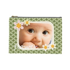 Flower  By Joely   Cosmetic Bag (large)   2xu6536qwxoi   Www Artscow Com Front