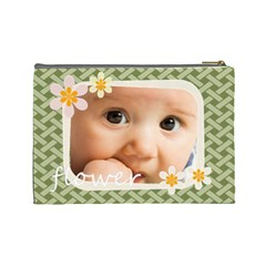 Flower  By Joely   Cosmetic Bag (large)   2xu6536qwxoi   Www Artscow Com Back