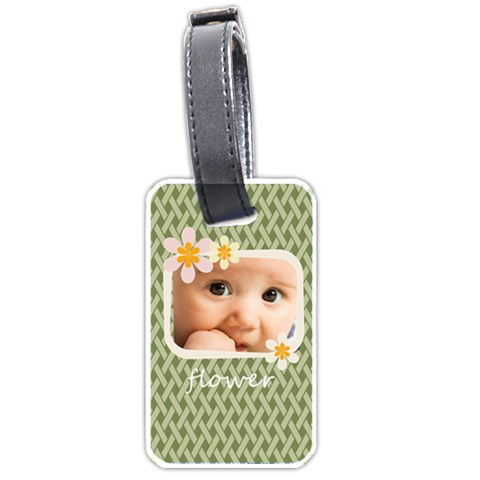 Flower  By Joely   Luggage Tag (one Side)   S9mz653kw3ty   Www Artscow Com Front