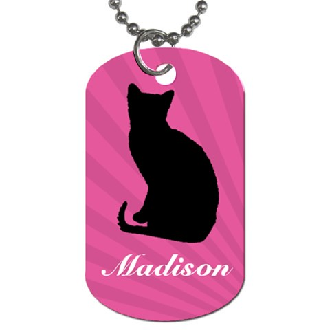 Name Dog Tag 7 By Martha Meier   Dog Tag (one Side)   D8nfp61u6xnf   Www Artscow Com Front