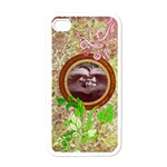 Vintage Floral Iphone 4 Case - Apple iPhone 4 Case (White)