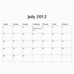 2012 Calendar By Trinh   Wall Calendar 11  X 8 5  (12 Months)   A485ri1x2kxh   Www Artscow Com Jul 2012
