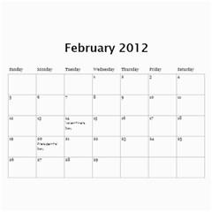 2012 Calendar By Trinh   Wall Calendar 11  X 8 5  (12 Months)   A485ri1x2kxh   Www Artscow Com Feb 2012
