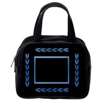 Blue and Black Classic handbag - Classic Handbag (One Side)