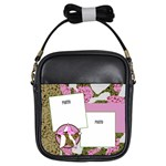 Pink Cammo Girls Sling Bag