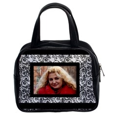 Black And White Classic Handbad (2 Sided) By Deborah   Classic Handbag (two Sides)   9i0u75m3l6j9   Www Artscow Com Front