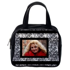 Black And White Classic Handbad (2 Sided) By Deborah   Classic Handbag (two Sides)   9i0u75m3l6j9   Www Artscow Com Back