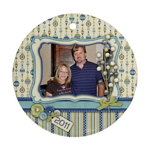Ornament Round Kellie And Kenton By Kellie Simpson   Ornament (round)   Lrdnifxeftm6   Www Artscow Com Front
