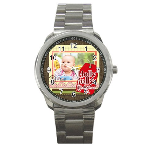 Christmas By Joely   Sport Metal Watch   C11kc897gc1f   Www Artscow Com Front