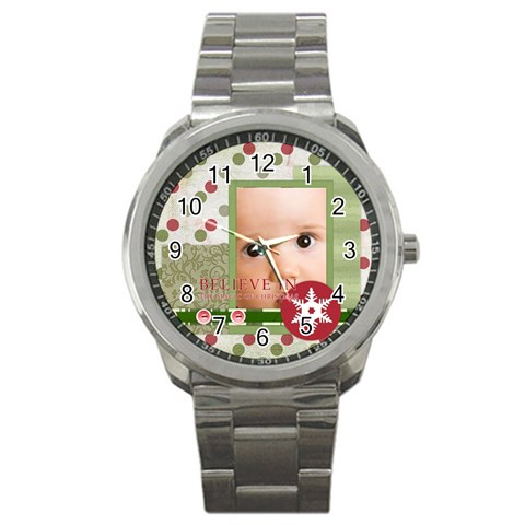 Christmas By Joely   Sport Metal Watch   6d49idgog7qb   Www Artscow Com Front