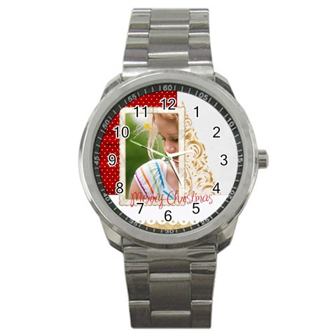 Christmas By Joely   Sport Metal Watch   Ujn9xmmmuo6g   Www Artscow Com Front
