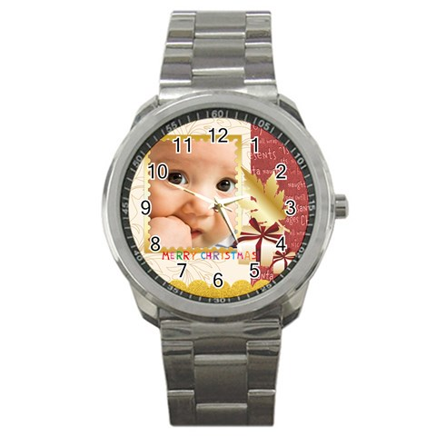 Christmas By Joely   Sport Metal Watch   6yay3uvjxtrh   Www Artscow Com Front