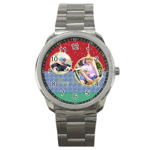 Christmas By Joely   Sport Metal Watch   Nl4fm0y6j4cl   Www Artscow Com Front