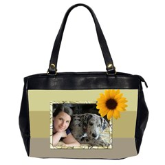 Sunflower Delight(2 Sided) Oversized Bag By Deborah   Oversize Office Handbag (2 Sides)   Nurwwco17sw2   Www Artscow Com Front