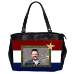 My Red,white and Blue - Oversize Office Handbag (2 Sides)