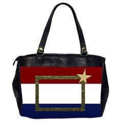 My Red,white And Blue By Deborah   Oversize Office Handbag (2 Sides)   9oi1gxxl56tj   Www Artscow Com Back