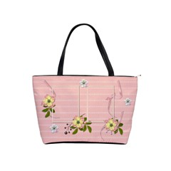 Shoulder Handbag: Flower Power By Jennyl   Classic Shoulder Handbag   Cgh1tj1w4p64   Www Artscow Com Front