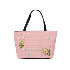 Shoulder Handbag: Flower Power By Jennyl   Classic Shoulder Handbag   Cgh1tj1w4p64   Www Artscow Com Back