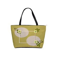 Shoulder Handbag: Flower Power2 By Jennyl   Classic Shoulder Handbag   3d1mnv04izx3   Www Artscow Com Front