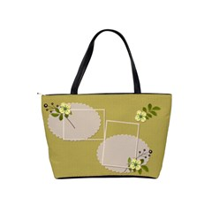Shoulder Handbag: Flower Power2 By Jennyl   Classic Shoulder Handbag   3d1mnv04izx3   Www Artscow Com Back