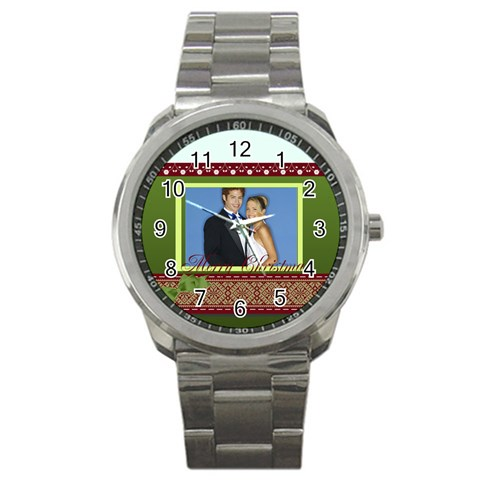 Christmas By Joely   Sport Metal Watch   B8s66g4ijxhm   Www Artscow Com Front