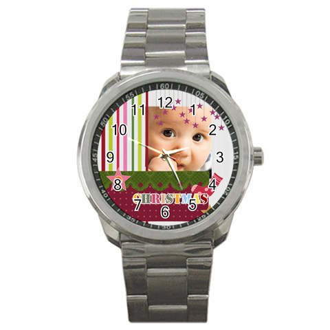 Christmas By Joely   Sport Metal Watch   D35pbzfr4zil   Www Artscow Com Front