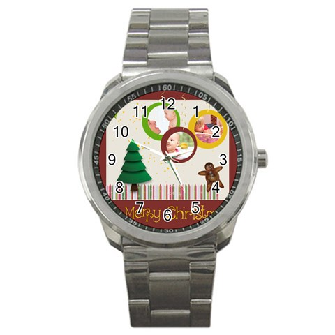 Christmas By Joely   Sport Metal Watch   09r0c99a8yg1   Www Artscow Com Front