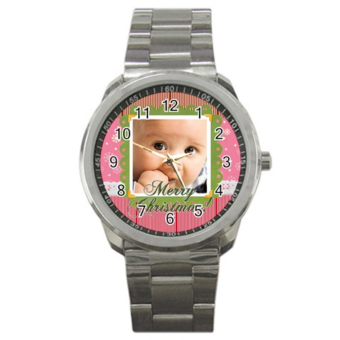 Christmas By Joely   Sport Metal Watch   Tat1vclt81me   Www Artscow Com Front
