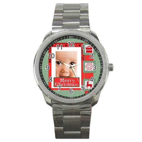 Christmas By Joely   Sport Metal Watch   Gj3kfvs7mshv   Www Artscow Com Front