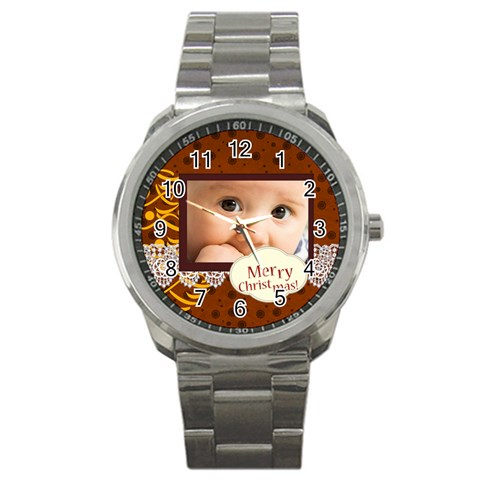 Christmas By Joely   Sport Metal Watch   P1gv1jp7lkkw   Www Artscow Com Front