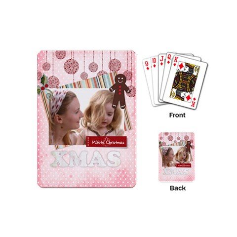 Christmas By Joely   Playing Cards (mini)   Zw14su9tcl36   Www Artscow Com Back